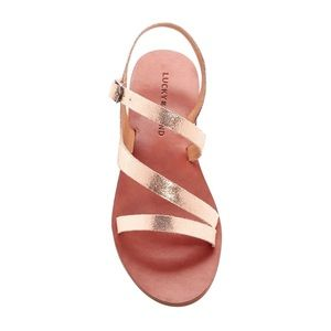 Lucky Brand Alexcia Leather Sandals NEW $69